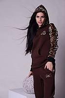 Спортивный женский костюм коричневый  D&G Арт-5020/44