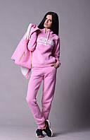 Нежно розовый спортивный женский костюм Шанель  Арт-5021/44