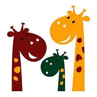 Виниловая Наклейка Glozis на прозрачной основе Cute Giraffes 70х60 см