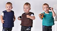Жилет броник коричневый девочка +мальчик Арт-5023/44