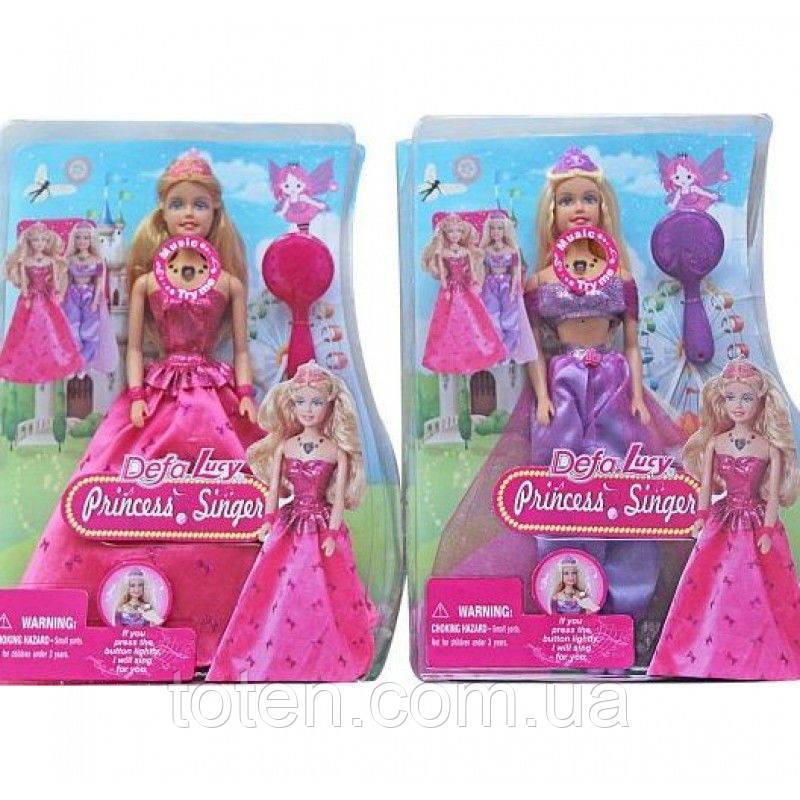 """Кукла DEFA 8265 """"Поющая принцесса"""", 2 вида 13-12"""