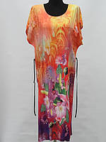 Яркий летний сарафан с цветочным принтом