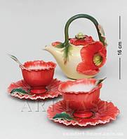 "FM- 40/ 5 Чайный набор ""Маки"" (Pavone) на 2 персоны"