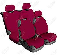 Майки на сиденье автомобиля Beltex Cotton 4шт (без подголовников) гранат