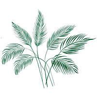Виниловая Наклейка Glozis на прозрачной основе Palm Leaves 120х100 см