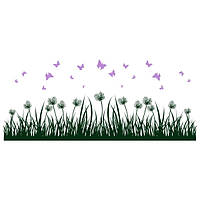 Виниловая Наклейка Glozis на прозрачной основе Grass 190х80 см