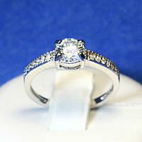 Серебряное кольцо с круглым цирконием Киев 4008-р, фото 1