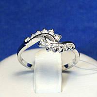 Родированное серебряное кольцо с цирконом Мишель 4812-р