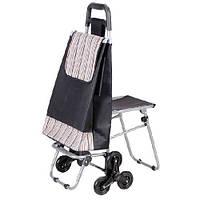 Удобная сумка на 6 колесиках со складным стулом