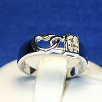 Серебряное кольцо с сердечком и замком 4842-р, фото 1