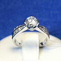 Серебряное помолвочное кольцо Ника-2 4992-р, фото 1