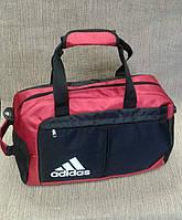 Спортивная сумка adidas черная с красным