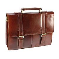 Мужской кожаный портфель Visconti VT 6 коричневый