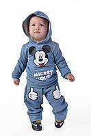 Детский спортивный костюм Дисней  светло голубой  (девочка,мальчик)   Арт-5024/44