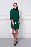 Платье женское 352-5 цвет темно зеленый, только опт