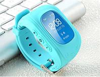 Детские часы с GPS трекером Q50 голубой