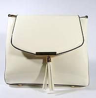 Лаковая сумочка через плечо 5036 белая, расцветки в наличии