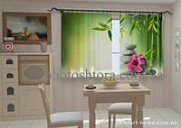 Фотошторы Листья бамбука в кухне 1,5м х 2,5м
