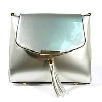Лаковая сумочка через плечо 5036 серебристая, расцветки в наличии