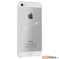 Чехол White Diamond Back Cover for iPhone 5 Sash Ice Pink Design