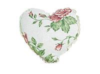 Подушка декоративная ручной работы Сердце Large Pink Rose
