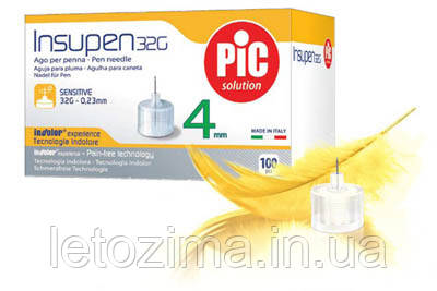 Инсулиновые иглы для шприц-ручек 4mm,32G-0,23mm