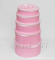 """WB-11 Комплект круглых коробок из 5шт """"Розовые мечты"""""""
