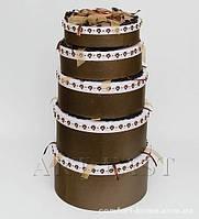 "WB-49 Комплект круглых коробок из 5шт ""Зерна Арабики"""