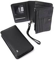 Стильный мужской кошелек, клатч dr. Bond. Портмоне из натуральной кожи. Практичный кошелек. Код: КЕ570