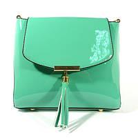 Лаковая сумочка через плечо 5036 мятная, расцветки в наличии