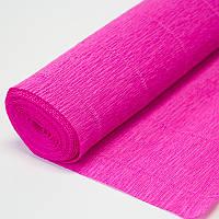 Бумага креп ярко розовая 570 Италия