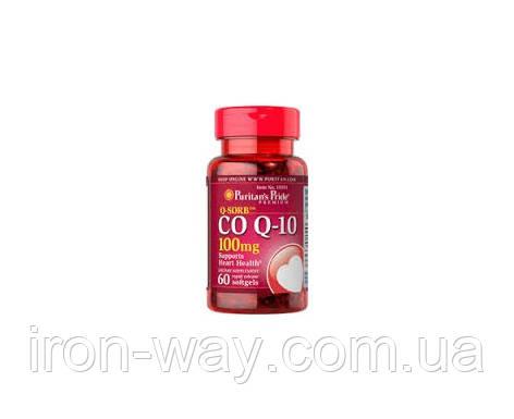 Puritan's Pride Q-SORB Co Q-10 100 mg 60 Rapid Release Softgels, фото 1