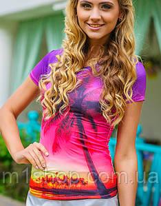 Фиолетовая футболка | Swag пальма sk