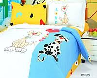 Детский комплект постельного белья ТМ Le Vele DOG LOVE 100х150 см