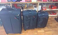Набор чемоданов синий на 4 колесах 3 шт THREE BIRDS 8039 (28х24х20)