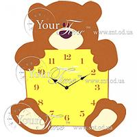 Часы настенные Мишка детские МДФ 26,8 * 4,5 * 33,5см