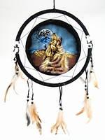 Ловец снов Бубен шамана 30 см Волк воющий