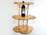 Мини бар Деревянный Фигурный на 2 яруса