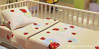 Комплект постельного белья в кроватку KidsDreams БОЖІ КОРІВКИ 110х150 см