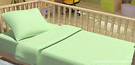Комплект постельного белья в кроватку KidsDreams ГОРОШКИ ЗЕЛЁНЫЙ 110х150 см