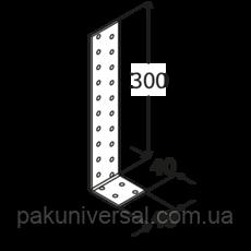 Уголок анкерный KК2 (40 мм х 300 мм х 40 мм х 2,0 мм) Domax Польша строительный крепеж