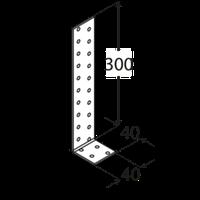 Уголок анкерный KК2 (40 мм х 300 мм х 40 мм х 2,0 мм) Domax Польша строительный крепеж, фото 1