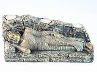 Статуэтка Этническая  Будда Лежащий подсвечник на три свечи 29 см