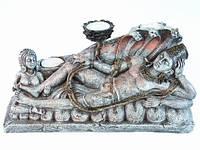 Статуэтка Этническая  Будда Лежащий подсвечник на три свечи