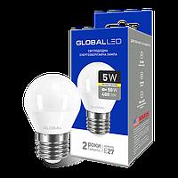 LED лампа GLOBAL G45 F 5W мягкий свет 220V E27 AP (1-GBL-141)