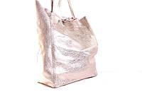 Итальянская кожаная сумка шоппер BIJ0-327 золотистый