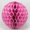 Бумажный шар-соты, розовый, 25 см