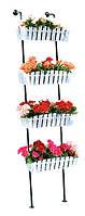 "Кованая подставка для цветов Кантри ""Лестница 4"""