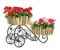 """Кованая подставка для цветов Кантри """"Тачка 2"""""""