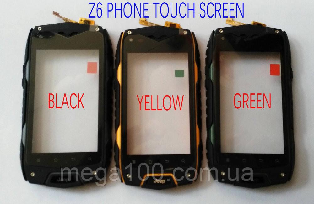 Сенсорный экран (Touchscreen) для смартфона jeep z6 черный цвет